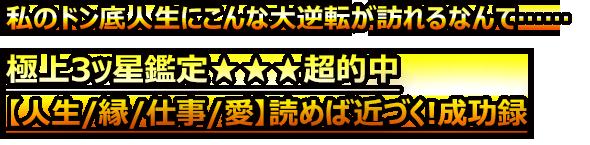 極上3ッ星鑑定★★★超的中【人生/縁/仕事/愛】読めば叶う成功全書録
