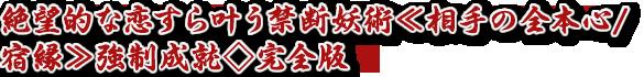絶望的な恋すら叶う禁断妖術≪相手の全本心/宿縁≫強制成就◇完全版