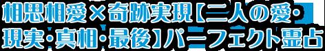 相思相愛×奇跡実現【二人の愛・現実・真相・最後】パーフェクト霊占