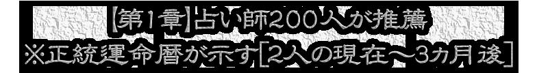 【第1章】占い師200人が推薦※正統運命暦が示す[2人の現在~3ヵ月後]