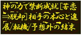 神の力で禁断成就[苦恋⇒脱却]相手の本心と進展/転機/予想外の結末