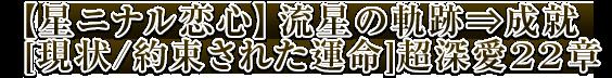 【星ニナル恋心】流星の軌跡⇒成就[現状/約束された運命]超深愛22章